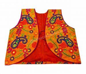 Buy Orange Phulkari Jacket Online