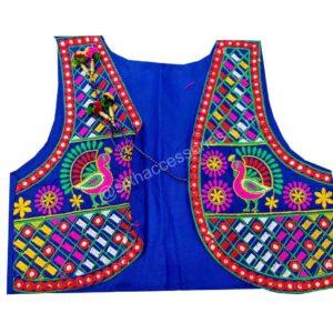 Buy Royal Blue Phulkari Jacket Online